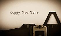 Happy New Year - geschrieben auf einer alten Schreibmaschine