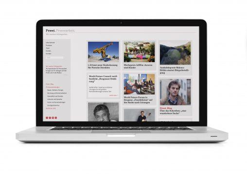 Website Pzwei. Pressearbeit.