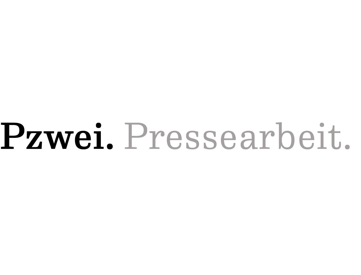 Logo Pzwei. Pressearbeit.
