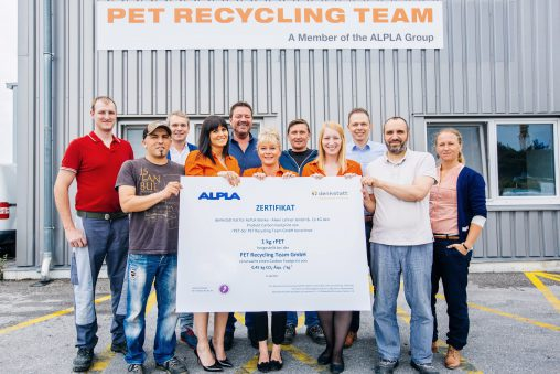 ALPLA-PET-Recycling-Team-rPET-Zertifikat-Team