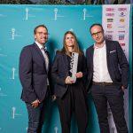 AdWin-Sieger 2017 Anzeige  von links: Markus Kirschner (Wann & Wo), Katharina Winder, Jörg Stöhle (beide zurgams)  Copyright: Michael Nussbaumer. Abdruck honorarfrei zur Berichterstattung über den AdWin 2017. Angabe des Bildnachweises ist Voraussetzung.