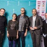 AdWin-Sieger 2017 Corporate Design  Edgar Eller (Stadtmarketing Feldkirch) mit AdWin, Team und Sponsor.  Copyright: Michael Nussbaumer. Abdruck honorarfrei zur Berichterstattung über den AdWin 2017. Angabe des Bildnachweises ist Voraussetzung.
