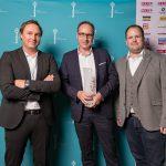 AdWin-Sieger 2017 Audio  von links: Thomas Gschossmann, Jörg Ströhle (beide zurgams), Dirk Klee (Antenne Vorarlberg)  Copyright: Michael Nussbaumer. Abdruck honorarfrei zur Berichterstattung über den AdWin 2017. Angabe des Bildnachweises ist Voraussetzung.