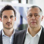 Die Geschäftsführung von i+R Industrie- & Gewerbebau  Mario Bischof (links) und Eckehard Schöch sind die Geschäftsführer von i+R Industrie- & Gewerbebau.  Copyright: i+R Industrie- & Gewerbebau/Dietmar Walser. Abdruck honorarfrei zur Berichterstattung über die i+R. Angabe des Bildnachweises ist Voraussetzung.