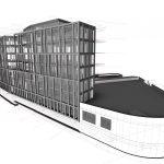 Visualisierung des Bürogebäudes B12 in Nüziders