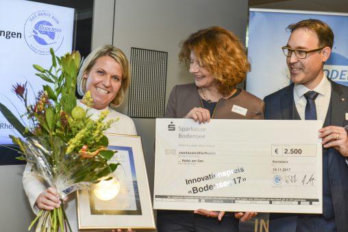 Carmen Oberhauser erhält den Innovationspreis Bodensee17