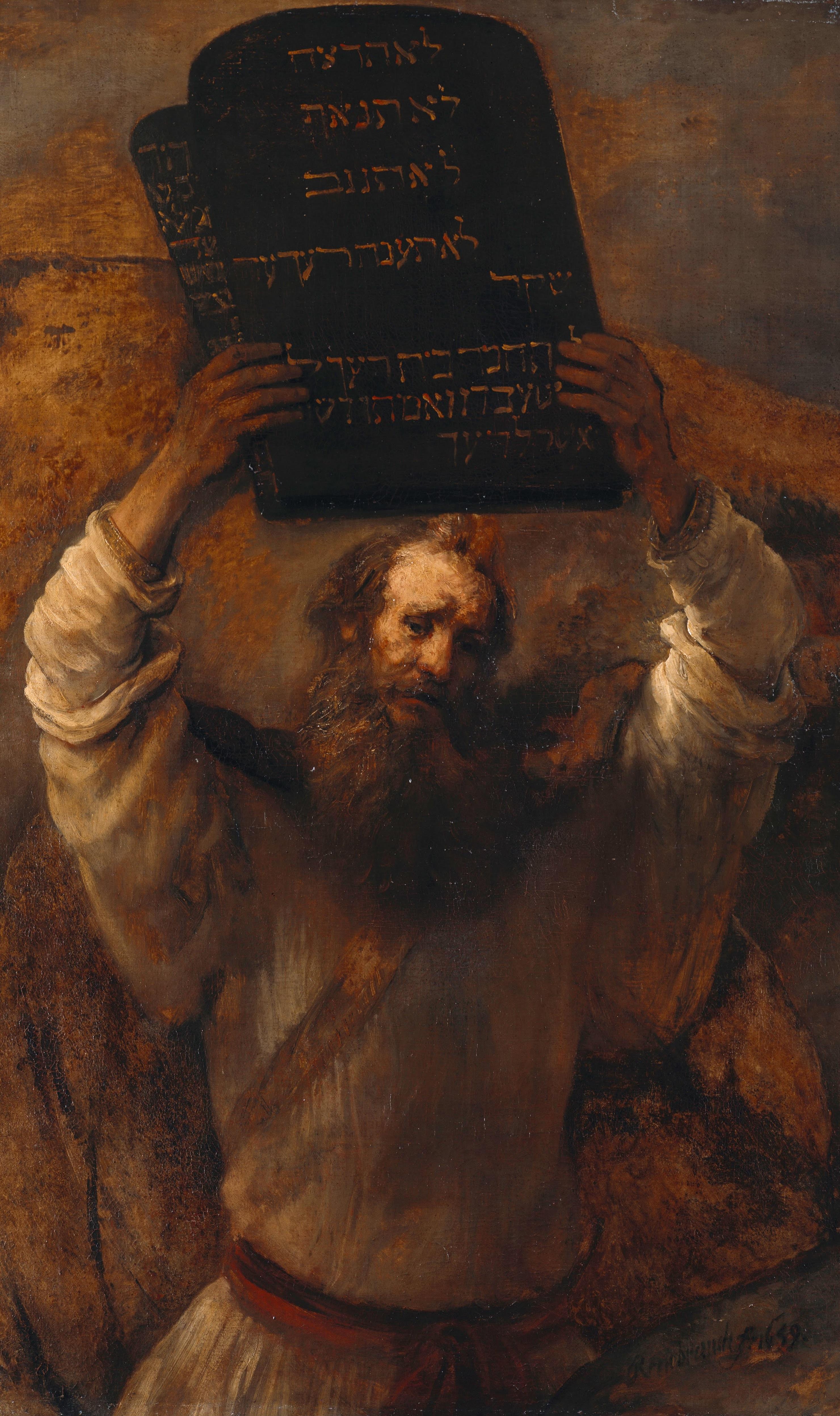 Moses und seine 10 Gebote.