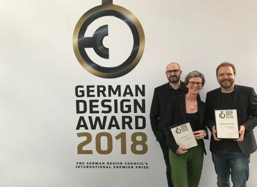 Zwei Auszeichnungen für Dornbirner Kommunikationsagentur die3 beim German Design Award