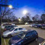 LEDON-LEDIVA-ZF-Schweinfurt-Nacht  Punktgenau zum Schichtwechsel bei ZF in Schweinfurt leuchten die solaren Lichtlösungen von LEDON mit höchster Intensität.  Copyright: LEDON/Volker Lau. Der Abdruck der Fotos ist honorarfrei zur Berichterstattung über LEDON.
