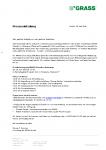 Presseeinladung Grundsteinlegung GRASS Hohenems