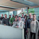 Team der Kommunikationsagentur die3  Das ganze Team der Dornbirner Kommunikationsagentur die3 freut sich über sechs Nominierungen für den German Design Award 2019.  Copyright: Michael Gunz. Der Abdruck ist für alle Fotos honorarfrei zur Berichterstattung über die3. Angabe des Bildnachweises ist Voraussetzung.