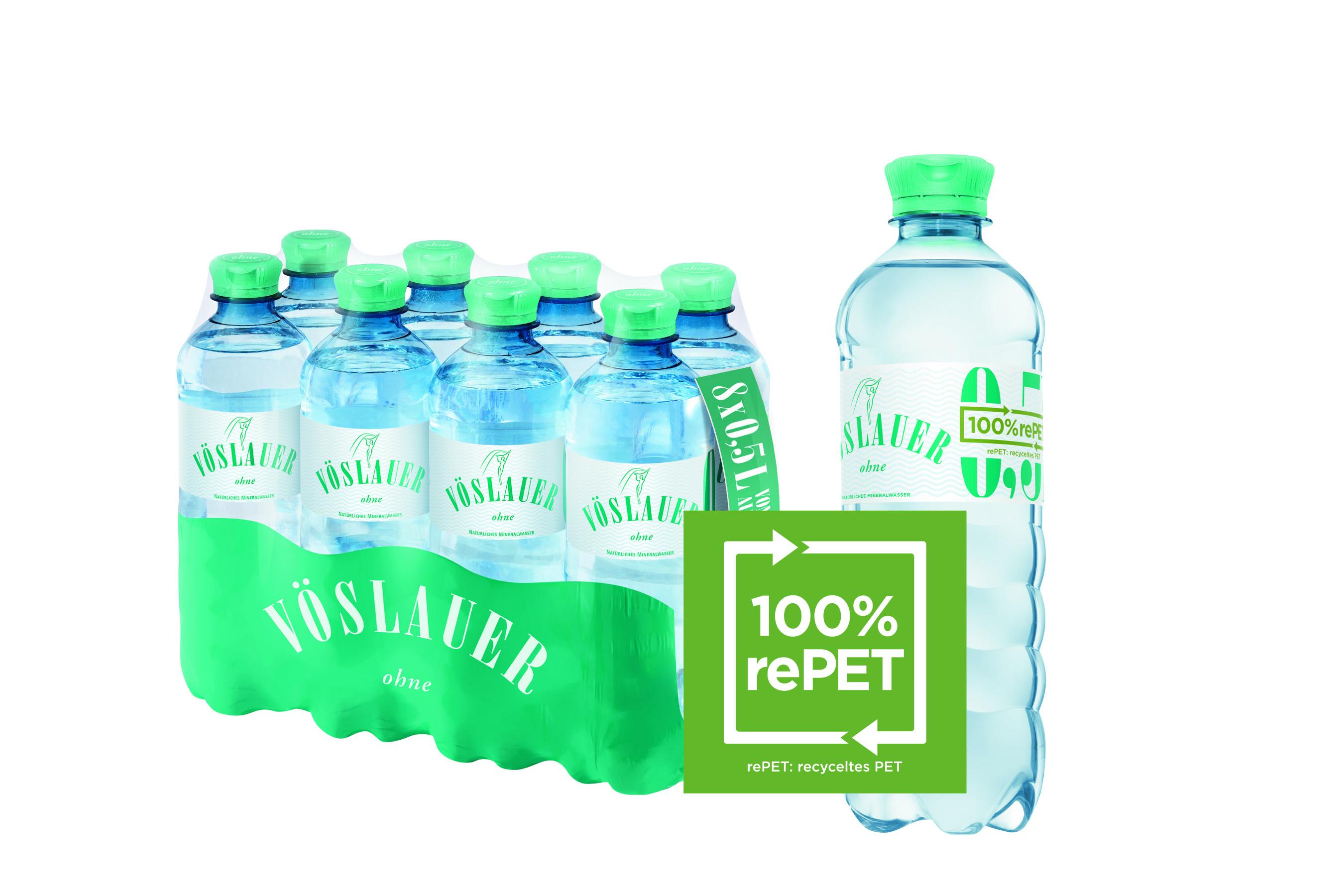 Vöslauer-Flasche aus 100 % rePET
