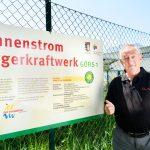 Bürgerkraftwerk Sonnenstrom e5-Gemeinde Göfis  n der jungen e5-Gemeinde Göfis steht das erste Bürgerkraftwerk Vorarlbergs.  Copyright: Thomas Rhomberg. Abdruck honorarfrei zur Berichterstattung über das e5-Programm für energieeffiziente Gemeinden. Angabe des Bildnachweises ist Voraussetzung.