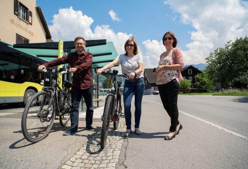 Radfahren Busfahren Mobilität e5-Gemeinde Sulz