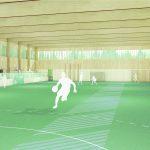 i+R / Sporthalle Moos: Visualisierung innen