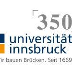 Universität Innsbruck: Logo 350-Jahr-Jubiläum  Logo anlässlich des 350. Geburtstags der Universität Innsbruck.  Copyright: Universität Innsbruck. Der Abdruck für alle Fotos ist honorarfrei zur Berichterstattung über die Universität Innsbruck. Angabe des Bildnachweises ist Voraussetzung.