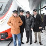 Gruppenbild: Ankunft des neuen ÖBB Cityjet TALENT3 in Vorarlberg