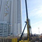 i+R Spezialtiefbau, DC3 Tower Wien: Großdrehbohrgerät Fundex  Österreichs erstes und derzeit einziges Großdrehbohrgerät der Type FUNDEX F3500 arbeitet in der Wiener Donaucity am Grundbau für den 110 Meter hohen DC3-Tower.  Copyright: i+R. Abdruck honorarfrei zur Berichterstattung über die i+R Spezialtiefbau GmbH. Angabe des Bildnachweises ist Voraussetzung.