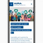 ALPLA: Nachhaltigkeitsbericht Screenshot