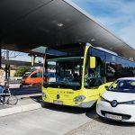 Kombination Bus Bahn Rad und Carsharing