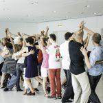 """Tango en Punta 4  Interaktion spielt bei Tango en Punta eine wichtige Rolle. Beim Festival bieten """"Los Tinkers"""" kostenfreie inklusive Tangoklassen und Workshops an.  Copyright: Ishka Michocka, Abdruck honorarfrei zur Berichterstattung über Tango en Punta. Angabe des Bildnachweises ist Voraussetzung."""
