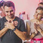 """Tango en Punta 6  Andrea Seewald und Matías Haber leisten mit ihrem Verein """"Los Tinkers"""" Pionierarbeit im Bereich Tanz und Inklusion und unterrichten seit 2010 inklusive Tangoklassen.  Copyright: Ishka Michocka, Abdruck honorarfrei zur Berichterstattung über Tango en Punta. Angabe des Bildnachweises ist Voraussetzung."""