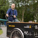 e5-Gemeinde-Feldkirch  Die Stadt Feldkirch setzt auf sanfte Mobilität und nutzt beispielsweise E-Lastenräder.  Copyright: Markus Gmeiner. Abdruck honorarfrei zur Berichterstattung über das e5-Programm für energieeffiziente Gemeinden. Angabe des Bildnachweises ist Voraussetzung.