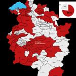 e5-Vorarlberg-Karte-alle-Gemeinden  84 Prozent der Vorarlbergerinnen und Vorarlberger leben derzeit in Kommunen, die am e5-Programm für energieeffiziente Gemeinden teilnehmen.  Copyright: Energieinstitut. Abdruck honorarfrei zur Berichterstattung über das e5-Programm für energieeffiziente Gemeinden. Angabe des Bildnachweises ist Voraussetzung.
