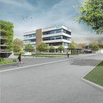 i+R: Visualisierung GTL Lindau 1  Das neue Betriebsgebäude der Garten- und Tiefbaubetriebe Lindau (GTL) errichtet i+R nach hohem Energiestandard und nutzt Luftwärme zum Heizen und Kühlen.  Copyright Visualisierungen: GTL. Abdruck honorarfrei zur Berichterstattung über i+R Industrie- & Gewerbebau GmbH in Zusammenhang mit den Garten- und Tiefbaubetrieben Lindau. Angabe des Bildnachweises ist Voraussetzung.