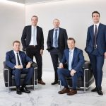 ALPLA: Board 2019  ALPLA Board (from left): Nicolas Lehner (CCO), Walter Ritzer (COO), Klaus Allgäuer (CTO), Günther Lehner (CEO), Philipp Lehner (CFO)  Copyright: ALPLA/Reinhard Fasching. Abdruck honorarfrei zur Berichterstattung über ALPLA. Angabe des Bildnachweises ist verpflichtend. // Reprinting free of charge for reporting on ALPLA. Photo credit required.