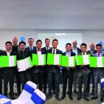 ALPLA Apprenticeship: Graduation  Im mexikanischen Toluca haben im Februar neun Lehrlinge den Lehrabschluss nach österreichischem Vorbild erlangt. // Nine apprentices in Toluca, Mexico, obtained the training qualification according to the Austrian model in February.  Copyright: ALPLA. Abdruck honorarfrei für die Berichterstattung über ALPLA. Fotonachweis erforderlich. // Reprinting free of charge for reporting on ALPLA. Photo credit required.