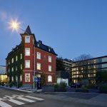 """Hotel Schwaerzler  Im Hotel Schwärzler, Bregenz, finden zwei Lesungen im Format """"Vorarlberger Kulturpicknick"""" statt.  Copyright: Bruno Klomfar. Abdruck honorarfrei, Angabe des Bildnachweises ist Voraussetzung."""