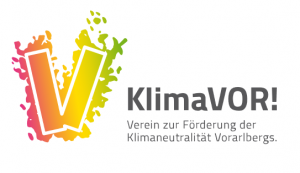 Logo KlimaVOR! - Verein zur Förderung der Klimaneutralität Vorarlbergs
