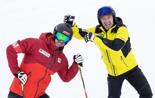 ORF-Kamerafahrer Joachim Puchner mit Vorgänger Hans Knauß