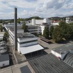 i+R Bueckle-Areal: von oben  Ansicht des früheren Siemens-Areals in der Bücklestraße in Konstanz im Jahr 2018.  Foto: Adolf Bereuter. Abdruck honorarfrei, Angabe der Fotohinweise ist Voraussetzung.