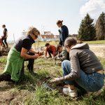 i+R Wohnbau Seedomizil: Freiflaeche mit SchuelerInnen